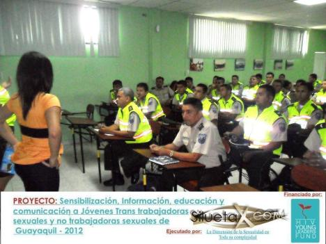 la asociacion silueta x sensibiliza a la policia nacional del ecuador